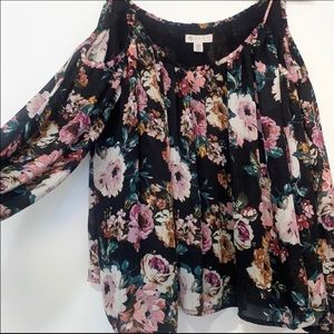 Lila Rose Floral Cold Shoulder Top